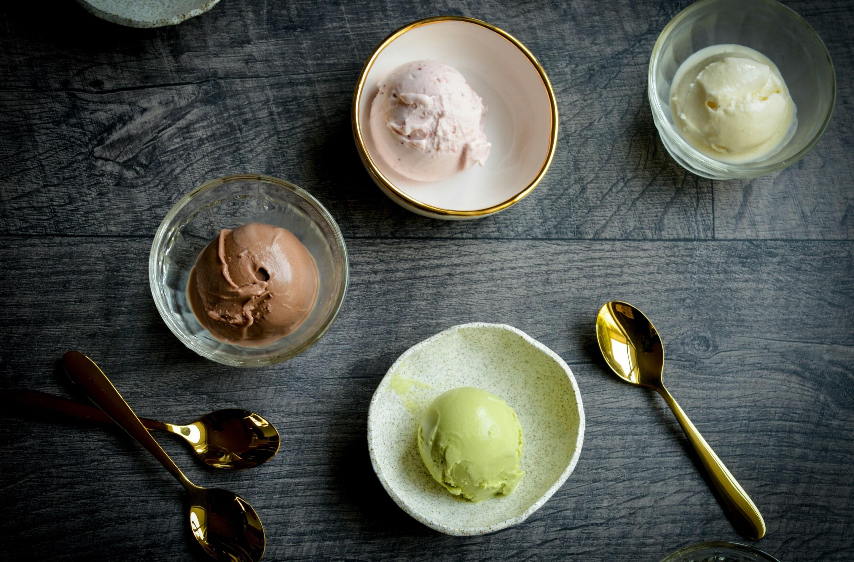 Ice Cream Heaven With Vanilla, Chocolate And Pistachio